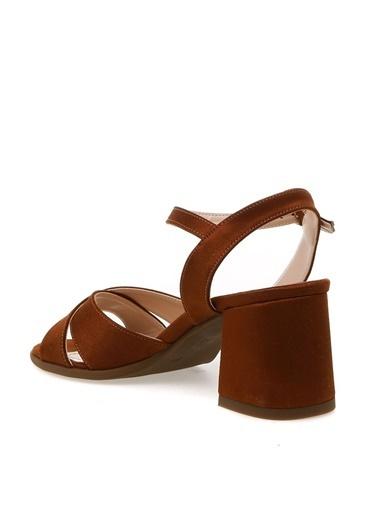 Fabrika Fabrika Taba Topuklu Ayakkabı Taba